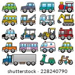 Vector Illustration of cartoon Car set - stock vector