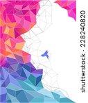 geometric background | Shutterstock .eps vector #228240820