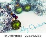 old vintage christmas... | Shutterstock . vector #228243283