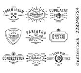 collection monochrome hipster... | Shutterstock .eps vector #228248734