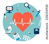 medicine heart illustration...   Shutterstock .eps vector #228253930