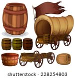 Western Theme With Wagons And...