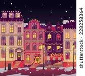 christmas town | Shutterstock .eps vector #228258364