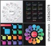 calendar 2015 vector design...   Shutterstock .eps vector #228262378