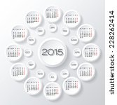 calendar 2015 vector design.... | Shutterstock .eps vector #228262414