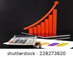 financial graph  calculator and ... | Shutterstock . vector #228273820