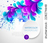 curls watercolor background.... | Shutterstock .eps vector #228274648