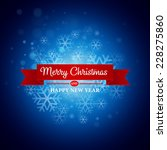christmas greeting card. vector ... | Shutterstock .eps vector #228275860