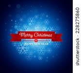 christmas greeting card. vector ... | Shutterstock .eps vector #228275860