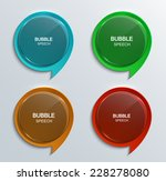 vector modern glass bubble... | Shutterstock .eps vector #228278080