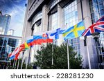 waiving flags in front of... | Shutterstock . vector #228281230
