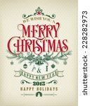 christmas and new year... | Shutterstock .eps vector #228282973