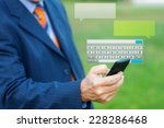 close up of a man hand typing a ... | Shutterstock . vector #228286468