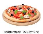 tasty  flavorful pizza isolated ... | Shutterstock . vector #228294070