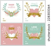 set of square greeting cards... | Shutterstock .eps vector #228303364