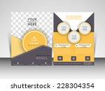 vector professional flyer ... | Shutterstock .eps vector #228304354