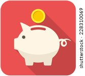 Piggy Bank Icon  Flat Design...