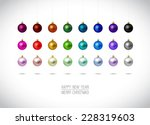 Colorful Christmas Ornaments...