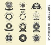 christmas retro vintage label... | Shutterstock .eps vector #228321853
