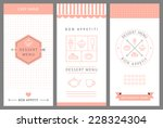 dessert menu card design... | Shutterstock .eps vector #228324304