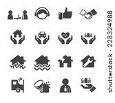 insurance icons | Shutterstock .eps vector #228324988
