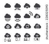 cloud icon set | Shutterstock .eps vector #228325090