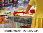 woman shopping for groceries in ...   Shutterstock . vector #228327934