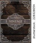 vintage card design. vector | Shutterstock .eps vector #228328054