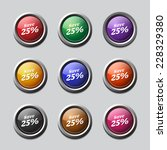 save 25 percent colorful vector ...   Shutterstock .eps vector #228329380