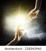 Religion Concept. Finger...