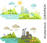 landscape with nature ecology... | Shutterstock .eps vector #228349624