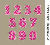 Set Of Numbers. Baby Design....
