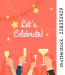 vector flat modern invitation... | Shutterstock .eps vector #228352429