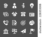 business and economic icon set  ... | Shutterstock .eps vector #228353308