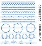 hand drawn doodle seamless... | Shutterstock .eps vector #228358810