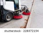 Vehicle Sweeping The Streets O...