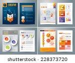set of flyer  brochure design... | Shutterstock .eps vector #228373720