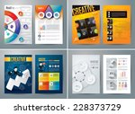 set of flyer  brochure design... | Shutterstock .eps vector #228373729