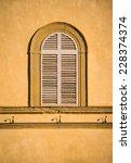 italian vintage window with... | Shutterstock . vector #228374374