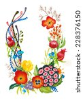 flower frame or wreath. perfect ... | Shutterstock . vector #228376150