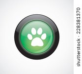 cat footprint glass sign icon...