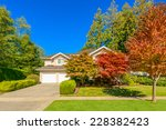 luxury house with double garage ...   Shutterstock . vector #228382423