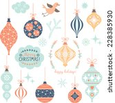 set of christmas toys | Shutterstock .eps vector #228385930