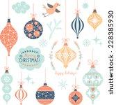 set of christmas toys | Shutterstock .eps vector #228385930