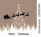 christmas landscape christmas... | Shutterstock .eps vector #228385984