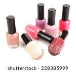 colorful nail polishes isolated ... | Shutterstock . vector #228385999