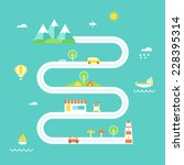 road map illustration. travel... | Shutterstock .eps vector #228395314
