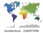 political world map on white... | Shutterstock .eps vector #228397498