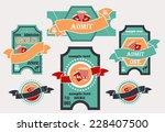vector set  tickets in...   Shutterstock .eps vector #228407500