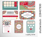 Set Of Loyalty Cards With A...